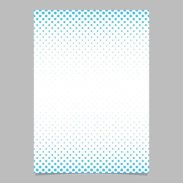 Retro Halbton Punkt Muster Broschüre Vorlage - Vektor Poster ...