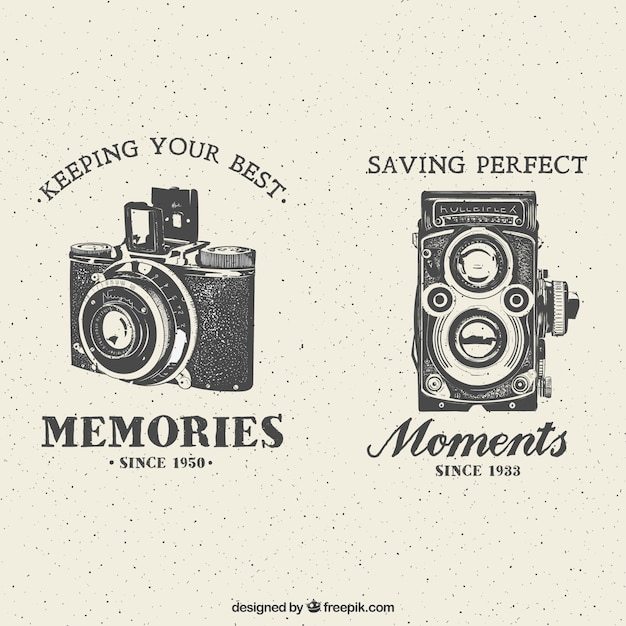 Retro-kameras Kostenlosen Vektoren