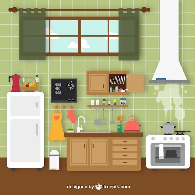 Retro Küche retro küche der kostenlosen vektor