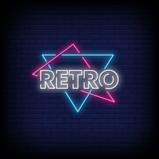 Retro leuchtreklame-art-text Premium Vektoren
