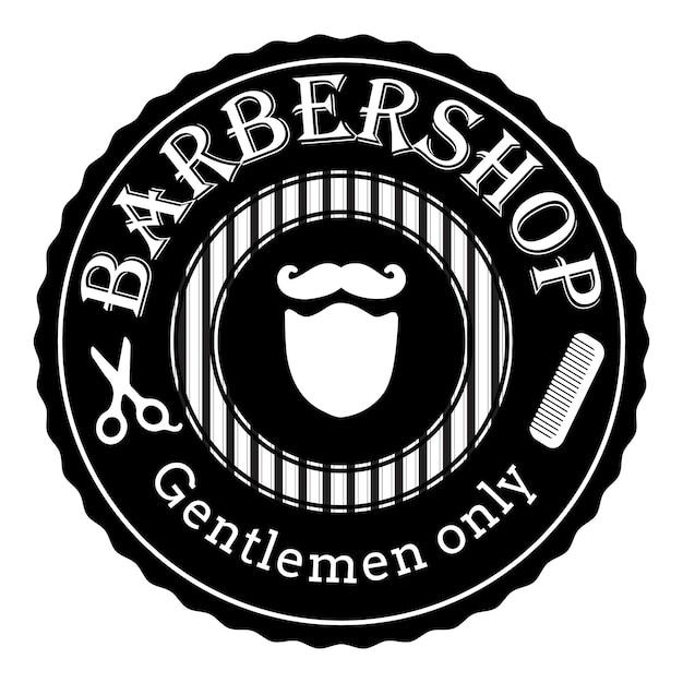 Retro logo des friseursalons Premium Vektoren