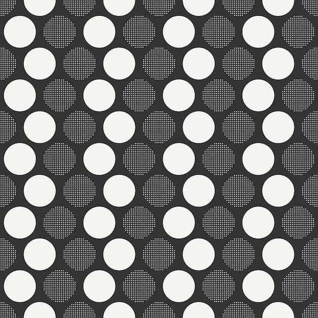 Retro memphis nahtlose muster. abstrakte durcheinanderbeschaffenheiten. kreis, rund, punkt. Premium Vektoren