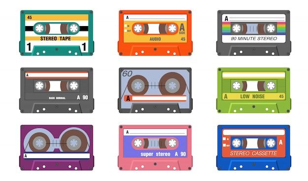 Retro musikbänder eingestellt Kostenlosen Vektoren
