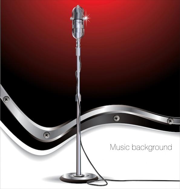 Retro musikhintergrund Premium Vektoren
