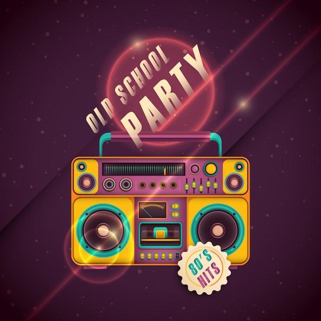Retro party hintergrund Premium Vektoren