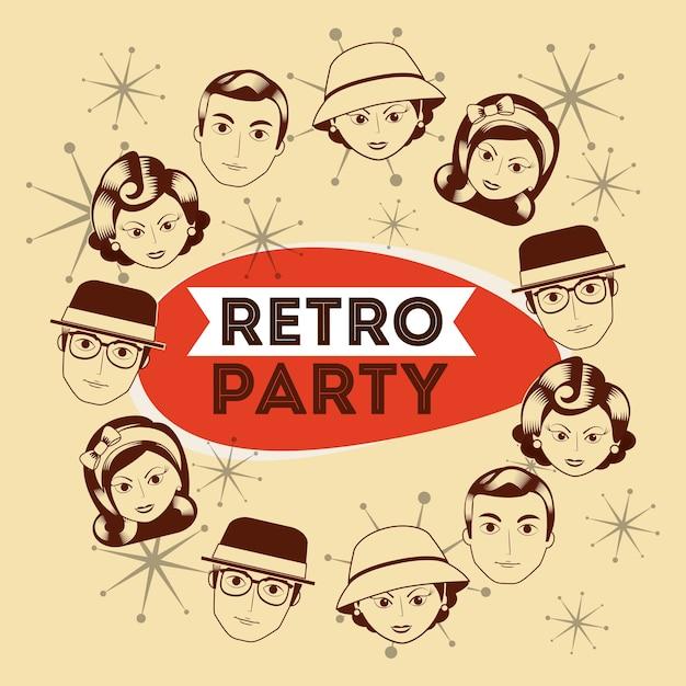 Retro-party Premium Vektoren
