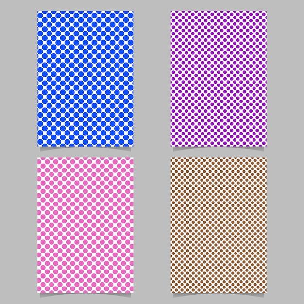 Retro Polka Dot Karte Hintergrund Vorlage Set - Vektor Briefpapier ...