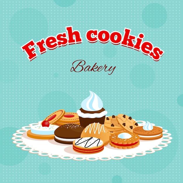 Retro-poster der bäckerei Kostenlosen Vektoren