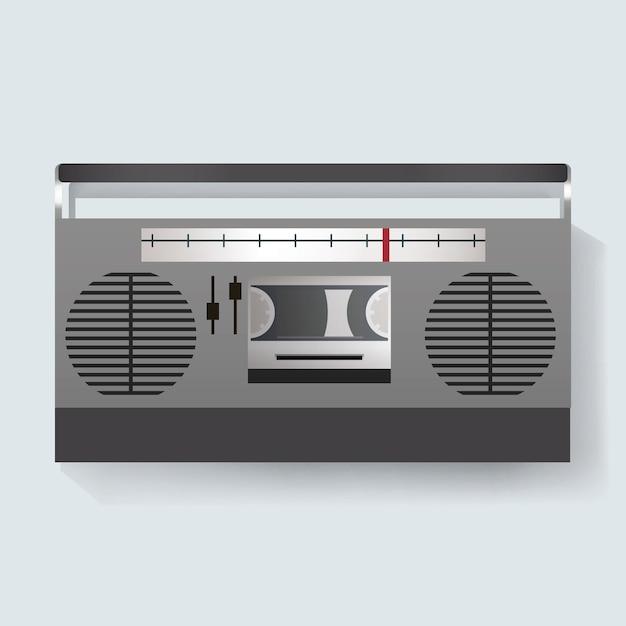 Retro radio unterhaltung media icon illustration Kostenlosen Vektoren