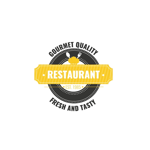 Retro restaurant corporate identity logo vorlage Kostenlosen Vektoren