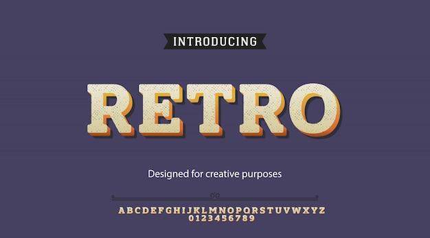 Retro-schrift. Premium Vektoren