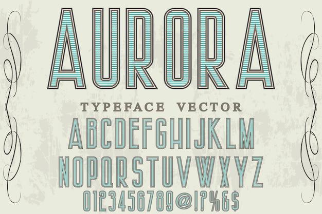 Retro schrifttyp design aurora Premium Vektoren