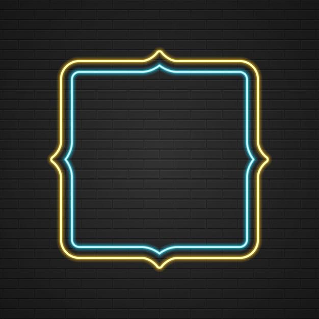 Retro showtime zeichen neon signage light frame Premium Vektoren