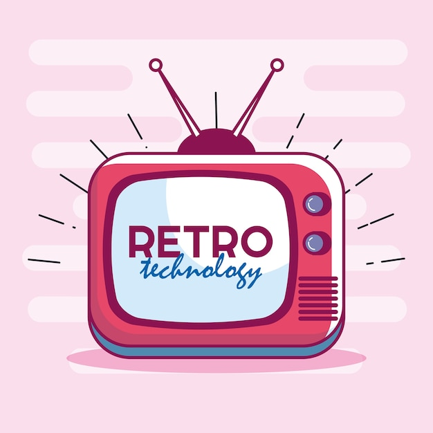 Retro-Technologie-TV-Symbol | Download der Premium Vektor