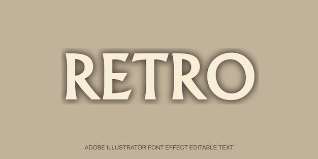 Retro-text-effekt Premium Vektoren