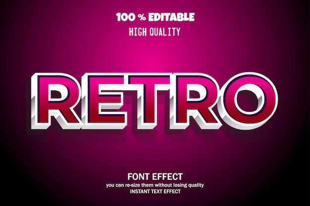Retro-text-stil, bearbeitbare schrift-effekt Premium Vektoren