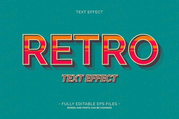 Retro-texteffekt vollständig bearbeitbar Kostenlosen Vektoren