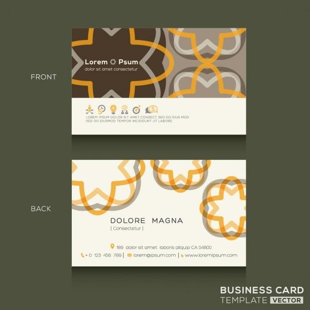 Retro Visitenkarten Design Vorlage Kostenlose Vektor