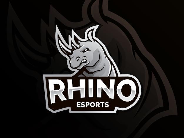 Rhino-vektor-logo Premium Vektoren