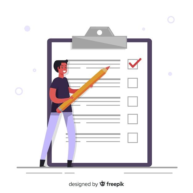 Riesige checkliste Kostenlosen Vektoren