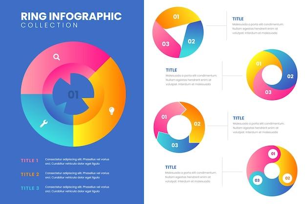 Ring infografik set Kostenlosen Vektoren