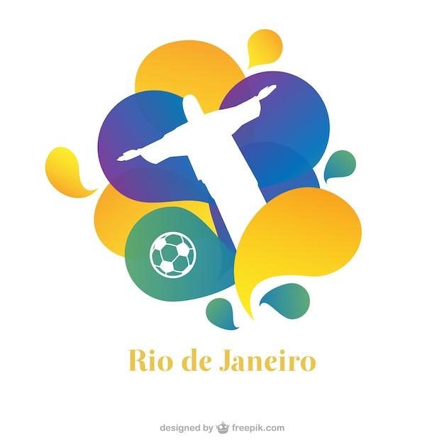 Rio de janeiro freien vektor poster Kostenlosen Vektoren