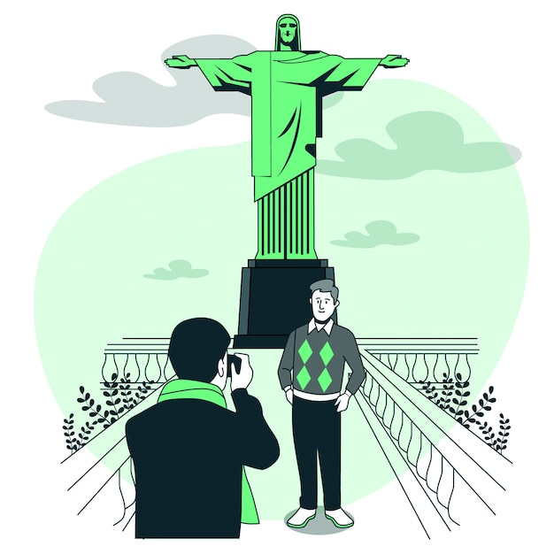 Rio de janeiro konzeptillustration Kostenlosen Vektoren