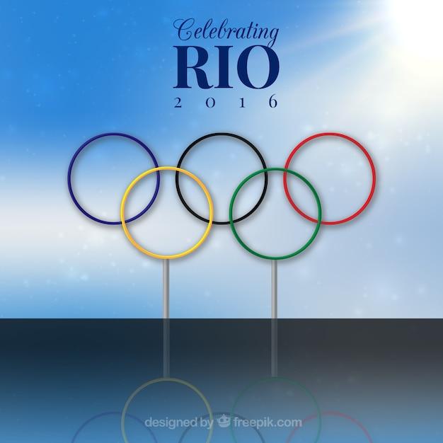 Rio olimpic spiele hintergrund Kostenlosen Vektoren