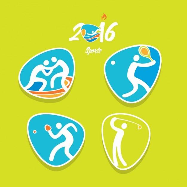 Rio olympia-symbol Kostenlosen Vektoren