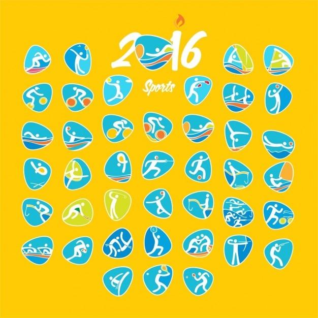 Rio olympischen sommerspiele symbole Kostenlosen Vektoren