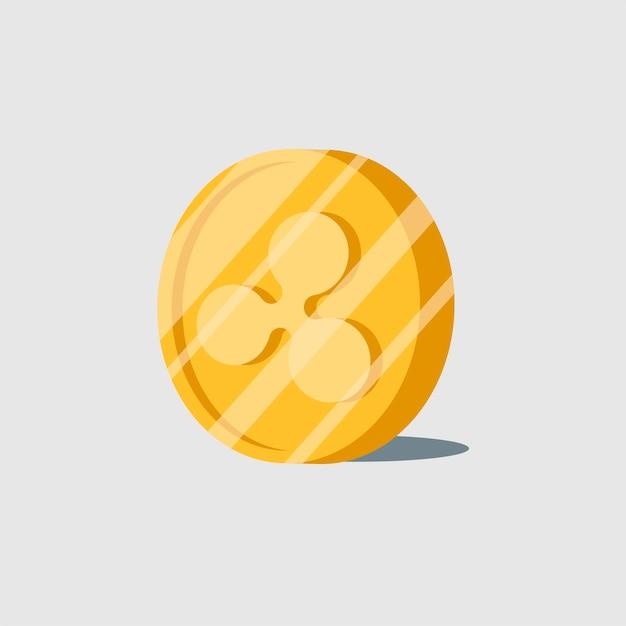 Ripple cryptocurrency elektronischer bargeldsymbolvektor Kostenlosen Vektoren