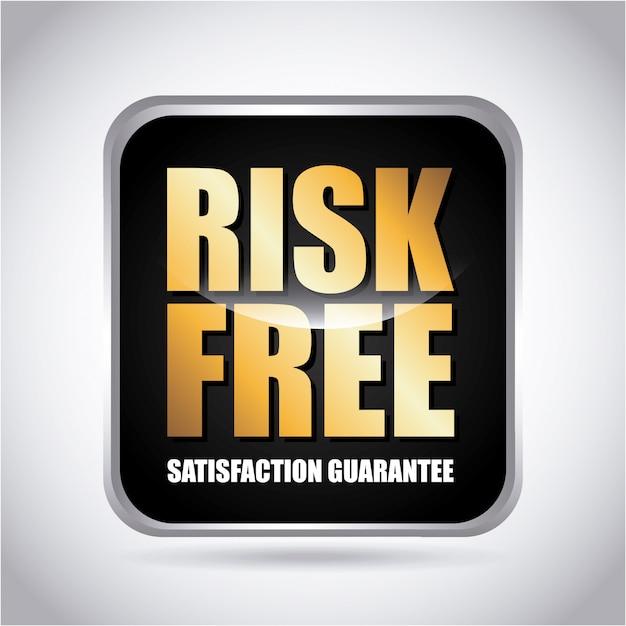 Risikofrei über graue hintergrundvektorillustration Premium Vektoren