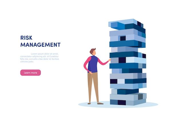 Risikomanagement Premium Vektoren