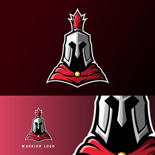 Rittersport-esport-logoschablone des kriegers spartanische römische Premium Vektoren