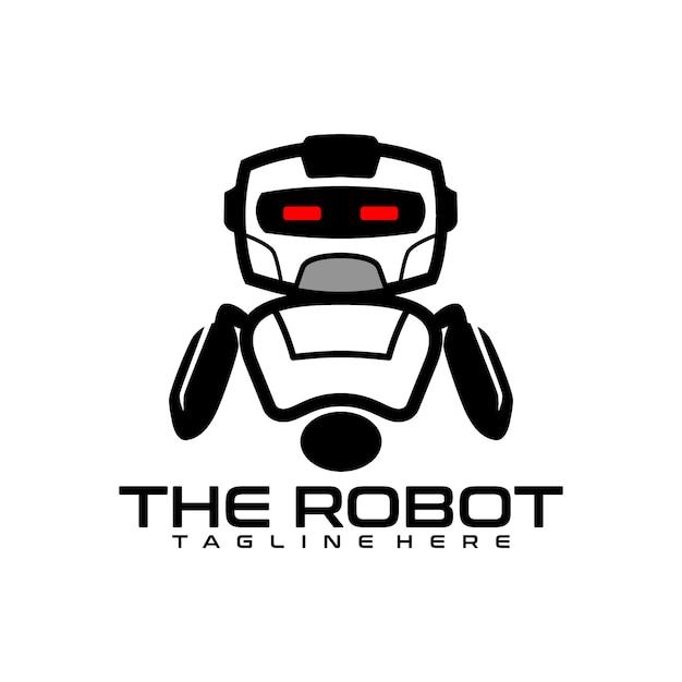 Roboter-logo Premium Vektoren