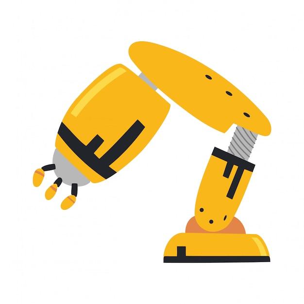 Roboterarm, hand Premium Vektoren