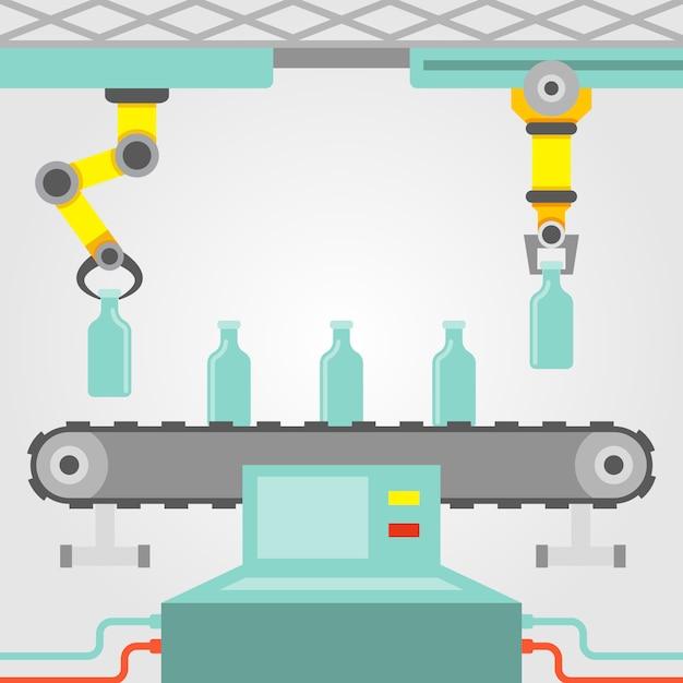 Roboterarm konzept Kostenlosen Vektoren
