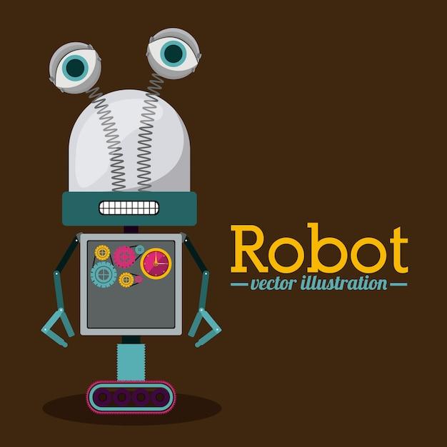 Roboterentwurf Premium Vektoren