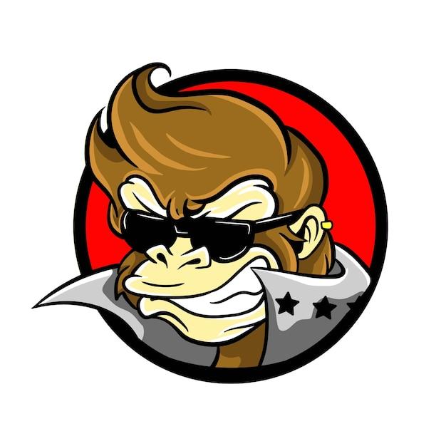 Rock-and-Roll-Affe-Logo   Download der Premium Vektor