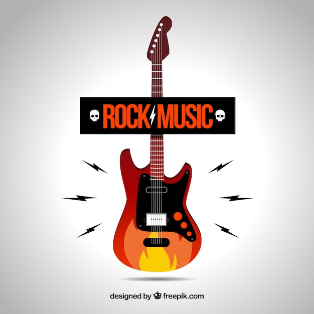 Rock-musik-logo Kostenlosen Vektoren