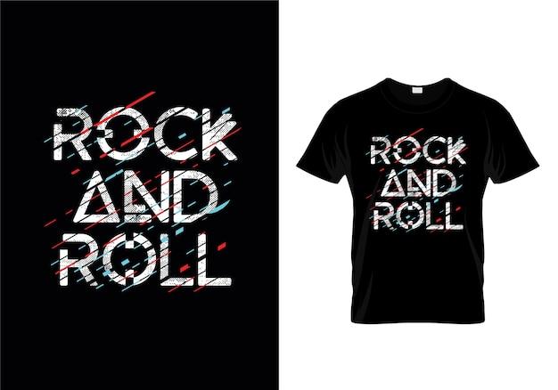 Rock'n'roll t-shirt design-vorlage Premium Vektoren