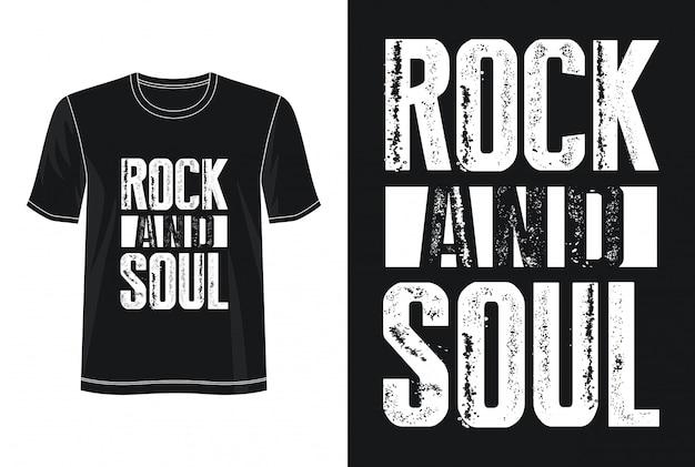 Rock'n'roll-typografie für print-t-shirt Premium Vektoren
