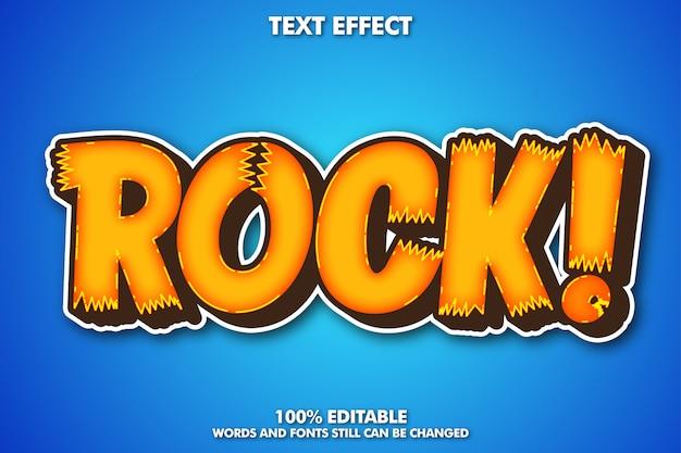 Rock sticker text effekt, moderner cartoon text effekt Kostenlosen Vektoren
