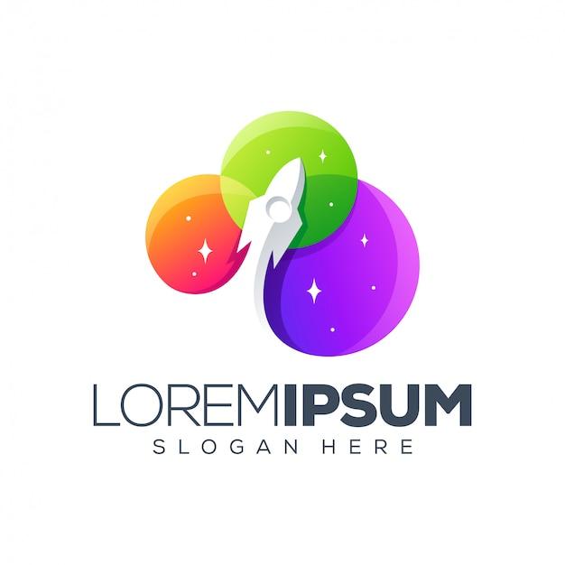 Rocket-logo-design Premium Vektoren
