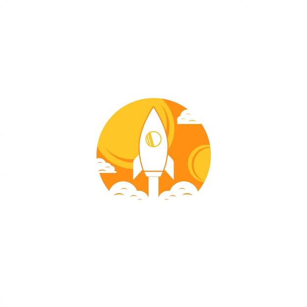 Rocket-logo Premium Vektoren