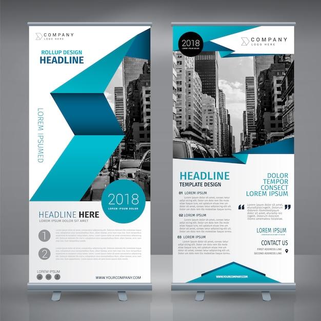 Roll up Template-Design Kostenlose Vektoren