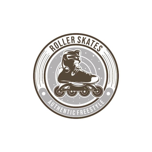 Rollschuh-team-logo-vorlagenentwurf Premium Vektoren