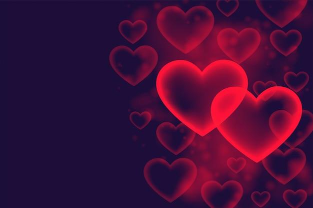Romantischer liebeshintergrund der stilvollen herzblase Kostenlosen Vektoren