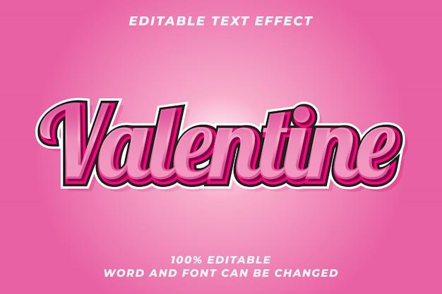 Romantischer valentinsgrußtext-arteffekt Premium Vektoren