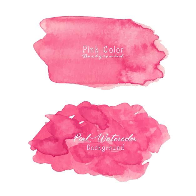 Rosa abstrakter aquarellhintergrund. Premium Vektoren